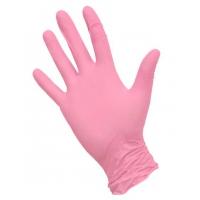 Перчатки нитриловые розовые M, 100 штук (50 пар) KLEVER