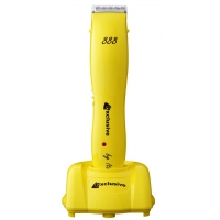 Машинка для стрижки Exclusive 888/ж(40) аккумуляторно-сетевая, нож 40 мм, цвет желтый, 4 насадки. Мощность 7 Watt