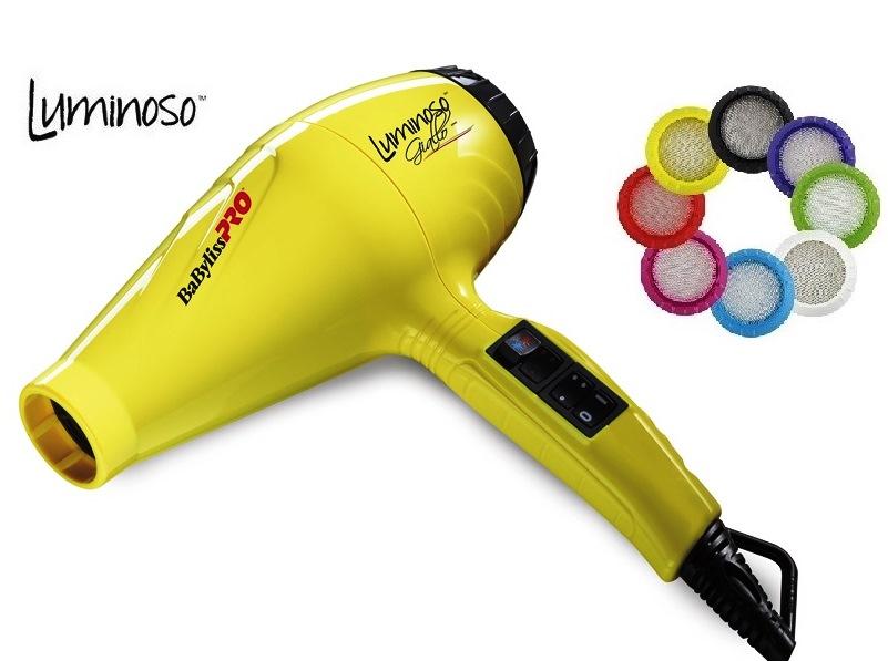 Фен BaByliss Pro LUMINOSO Yellow IONIC BAB6350IYE 2100 Вт. Фен ЖЕЛТЫЙ  мощный классический профессиональный 57dc52f5f16d4