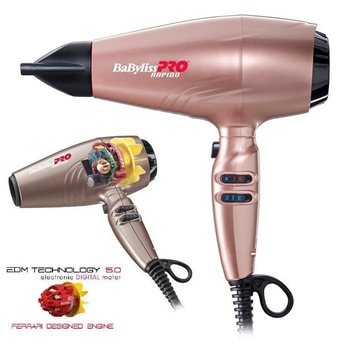 Фен BaByliss Pro RAPIDO IONIC BAB7000IRGE 2200 Вт Розовое золото. Фен  легкий мощный классический профессиональный 659c8f6fa4e42