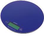 Круглые весы электронные NS004 для взвешивания красок для волос и химических препаратов, максимальный вес 3 кг, цена деления 1г, цвет синий, диаметр 18.5 см, DEWAL (Германия)