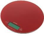 Круглые весы электронные NS003 для взвешивания красок для волос и химических препаратов, максимальный вес 3 кг, цена деления 1г, цвет красный, диаметр 18.5 см, DEWAL (Германия)