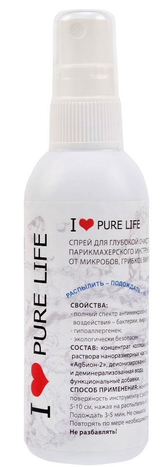 Санитарная жидкость-спрей для обработки инструмента 100 мл. Я люблю чистый мир. 0151-0001 I LOVE PURE LIFE