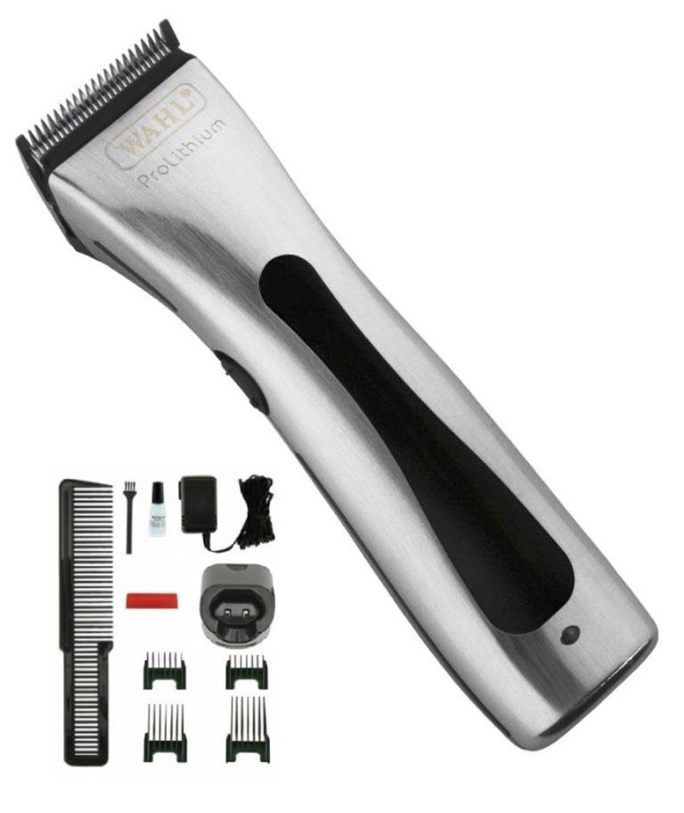 Машинка WAHL Beretto Prolithium 4212-0470 Серебристая. Комбинированная, нож 46 мм, срез 0.7-3.0 мм, 4 насадки, 290г, WAHL (США). Журнал HAIRs 208 Мужской клуб в ПОДАРОК!
