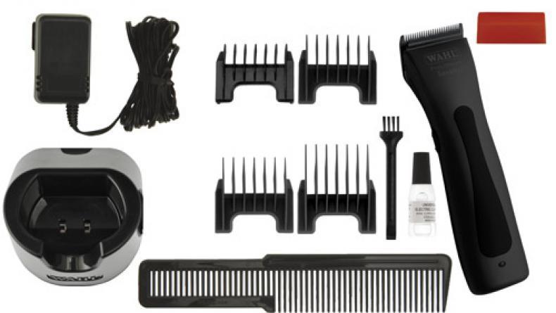 Машинка WAHL Beretto Stealth Black 4212-0471 Черная матовая. Комбинированная, углеродистый нож 46 мм, срез 0.7-3.0 мм, 4 насадки, 290г, WAHL (США). Журнал HAIRs 208 Мужской клуб в ПОДАРОК!