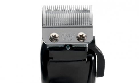 Машинка WAHL Super Taper 8466-216 (4008-0480) Белая. Сетевая вибрационная, нож 46 мм, срез 1.0-3.5 мм, 4 насадки, 620г, WAHL (США). Журнал HAIRs 208 Мужской клуб в ПОДАРОК!