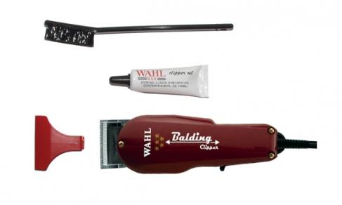 Машинка WAHL Balding 8110-016 (4000-0471) 5-Star Бордовая. Сетевая вибрационная, нож 46 мм, срез 0.4 мм, 2 насадки, 610г, WAHL (США). Журнал HAIRs 208 Мужской клуб в ПОДАРОК!
