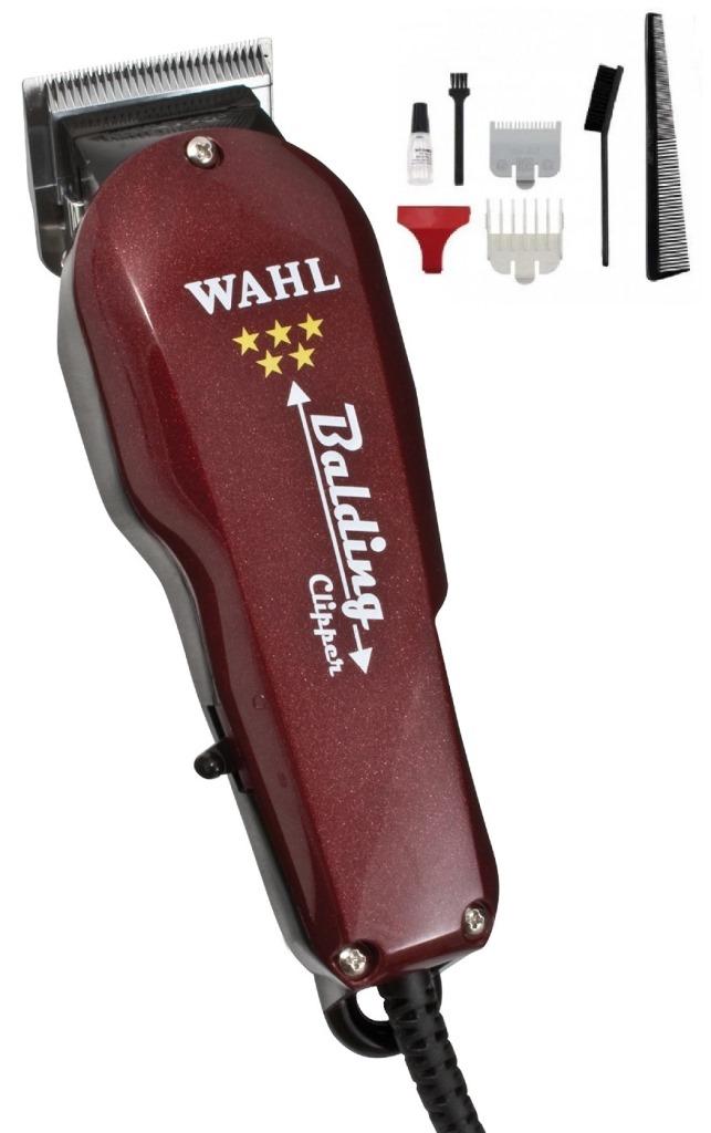 Машинка WAHL Balding 8110-016 (4000-0471) 5-Star Бордовая. Сетевая вибрационная, нож 46 мм, срез 0.4 мм, 2 насадки, 610г, WAHL (США)