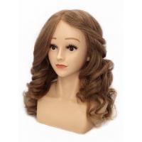 Конкурсный манекен Ника 50-55 см с плечами Светло-русая золотистая блондинка без штатива. Натуральные волосы 100% Human hair 230C, D 50 см, medium 230-260 волос см.кв