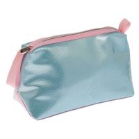 Косметичка Dewal Beauty Морской бриз BG-144 голубая с розовым, размер 23х15х10 см, DEWAL (Германия)