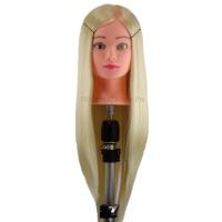 Учебная голова Яна 50-60 см блондинка с настольным ШТАТИВОМ для плетения косичек и стрижек. Высококачественные протеиновые волосы
