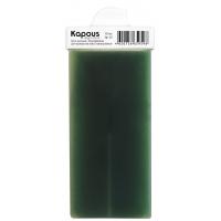 Жирорастворимый воск Зеленый с Хлорофиллом для депиляции, картридж 100 мл с мини роликом для небольших поверхностей, серия Standart для нормальной кожи, арт.561, KAPOUS PROFESSIONAL (Италия)