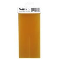Жирорастворимый воск Желтый Натуральный для депиляции, картридж 100 мл с мини роликом для небольших поверхностей, серия Standart для нормальной кожи, арт.563, KAPOUS PROFESSIONAL (Италия)