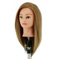 Манекен-голова Инна 40-50 см без штатива. 100% Human hair 230C для причесок. Цвет волос Светлый перламутровый, густота medium 200-230 волос см.кв