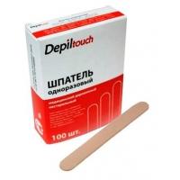 Шпатель Стандарт DepilTouch деревянный одноразовый 16x140 мм, картонная упаковка 100 штук