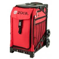 ZUCA Sport Chili/Black. ZUCA (США) Cумка-сиденье на колесах. Красный чехол Chili, черная рама. 4 Большие прозрачные фирменные косметички ПРОФМАГАЗИН.РФ в ПОДАРОК
