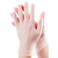 Перчатки виниловые бесцветные M, 100 штук (50 пар) Одноразовые, ПВХ неопудренные, нестерильные