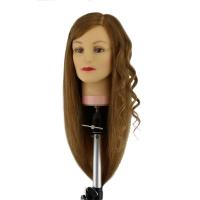 Манекен-голова Dewal M-4151XL-407 Наташа 50-60 см без штатива. 100% Human hair 230C для причесок. Цвет волос Темный пшеничный, густота medium 200-230 волос см.кв