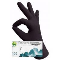 Перчатки нитриловые ЧЕРНЫЕ размер XS, 100 штук (50 пар) KLEVER