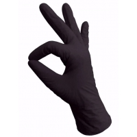 Перчатки нитриловые ЧЕРНЫЕ размер S, 100 штук (50 пар) KLEVER