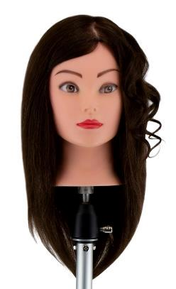 Учебная голова Джулия 30-40 см шатенка без штатива. 100% натуральные волосы Human hair 230C для стрижек, D 50 см, medium 230-260 волос см.кв. Расческа в Подарок!