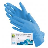Перчатки нитриловые голубые размер XS, 100 штук (50 пар) KLEVER