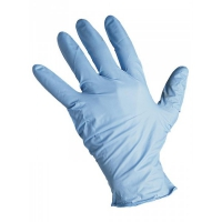Перчатки нитриловые голубые размер S, 100 штук (50 пар) KLEVER