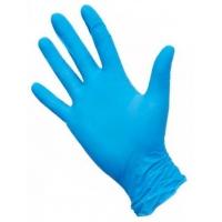 Перчатки нитриловые голубые размер L, 100 штук (50 пар) Nitrimax