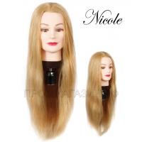 Учебная голова из натуральных волос купить в москве