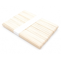 Шпатель 135 мм узкий деревянный одноразовый 10x135 мм, полиэтиленовая упаковка 50 штук