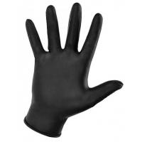 Перчатки нитриловые ЧЕРНЫЕ размер M, 100 штук (50 пар) KLEVER