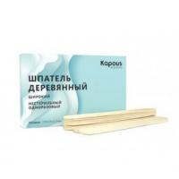 Шпатель одноразовый 200 мм Kapous арт.2543 деревянный широкий, 200x25x2.5 мм, 50 штук в упаковке