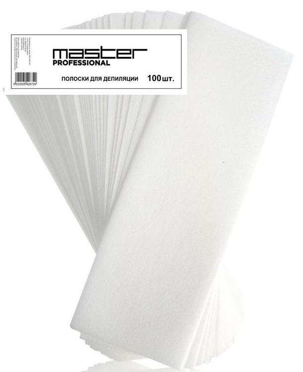 Полоски 100 штук для депиляции 70x200 мм Master. Нетканый материал спанлейс
