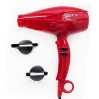Фен Master Typhoon Red 2400 Вт. Мощный фен MP-311, цвет красный, кнопки сбоку, вес 590г, 2 насадки. Гарантия 12 месяцев