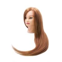 Учебная голова Алиса 60-70 см светло-рыжая с настольным ШТАТИВОМ. Натуральные волосы 60% Animal hair 40% Human hair нагрев 200С, D 51 см, eco 170-200 волос см.кв