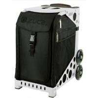 ZUCA Sport Stealth/White. ZUCA (США) Cумка-сиденье на колесах. Черный чехол Stealth, белая рама. 4 Большие прозрачные фирменные косметички ПРОФМАГАЗИН.РФ в ПОДАРОК