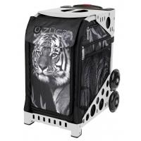 ZUCA Sport Tiger/White. ZUCA (США) Cумка-сиденье на колесах. Чехол тигр, белая рама. 4 Большие прозрачные фирменные косметички ПРОФМАГАЗИН.РФ в ПОДАРОК