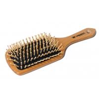 Щетка-лопата большая CROWN Professional S9970, арт.А-018 (A018). Термоустойчивая деревянная с деревянными зубцами, мягкая массажная воздушная подушка