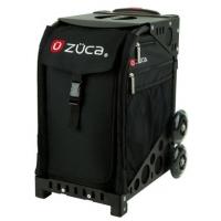 ZUCA Sport Obsidian/Black. ZUCA (США) Cумка-сиденье на колесах. Черный чехол Obsidian, черная рама. 4 Большие прозрачные фирменные косметички ПРОФМАГАЗИН.РФ в ПОДАРОК