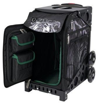 ZUCA Sport Tiger/Black. ZUCA (США) Cумка-сиденье на колесах. Чехол тигр, черная рама. 4 Большие прозрачные фирменные косметички ПРОФМАГАЗИН.РФ в ПОДАРОК